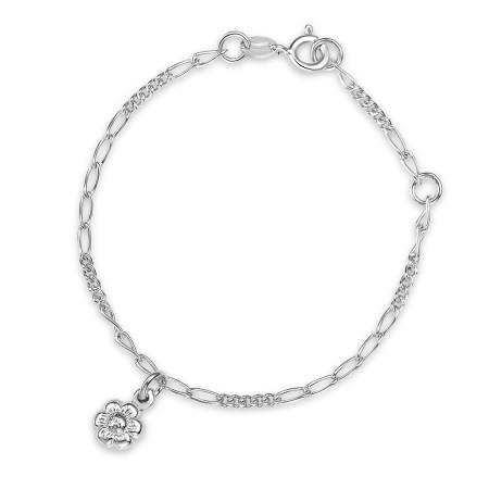 Armband i silver - Blommor